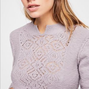 Free People Frosted Lace Jumper